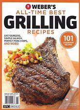 Weber Best Grilling Recipes magazine Rib eye steaks Burgers Salmon Pork chops