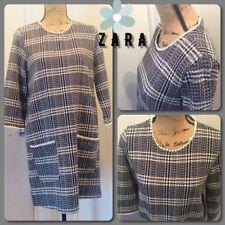7c0fbf5b Zara Womens Black & White Tweed Patch Pocket Mini Shift Dress Retail