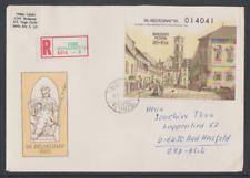 Ungarn 1983  Reko Brief mit Block  166A   Ausgabe Tag der Briefmarke