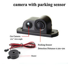 Waterproof 170° Car Rear View Reversing Camera w Parking Sensor Night Vision Kit