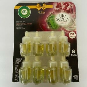 8 Refills Air Wick Life Scents BERRY COOL WINTER Scented Oil Holiday Collection