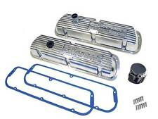 Polish Bronco Valve Covers w/ Cork Gaskets small block Ford 289/302/351W engines