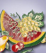 1950s Original Vintage Vogart Textilprint 26 Crisp Fruit Color Hot Iron Transfer