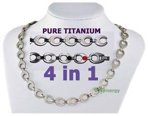 Pure Titanium Germanium Magnets necklace Power Energy Bio Balance 4in1 Halskette