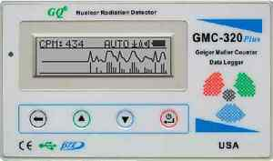 GQ GMC-320+V4 Geiger Counter Nuclear Radiation Detector Meter Beta Gamma X ray