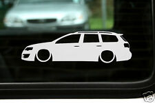 2x LOW vw Passat R36 /TDi B6 volkswagen estate wagon Lowered outline stickers