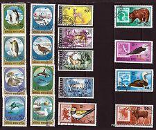 42T4 MONGOLIE 17 timbres oblitérés, animaux du froid et des forets