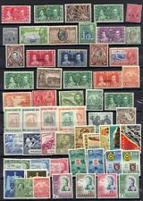 BRITISH COMM. 1920-50's COLL. OF 70 STAMPS INC. LEEWARD ISLAND ALL MINT HINGED