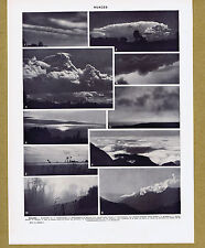 CLOUDS - Nuages - 1930s French Illustrated Leave