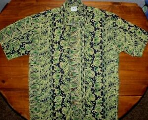 Men's    US made    Hawaiian   Button up      Shirt      large