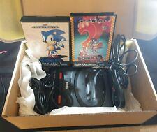 Sega Mega Drive II Console with Sonic 1 & 2 in Customised Gift Box