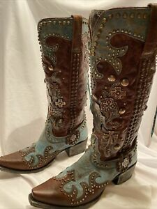 Double D Ranch By Old Gringo Ammunition Turquoise Woman's Boots Sz 9