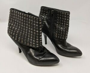 Enzo Angiolini Ealumos Women's Size 6.5 M Leather Ankle Boots Black Studded