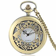 Steampunk Alice in Wonderland Watch Antique style Necklace & Chain #PW09