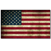 """American Flag Distressed Aged Bumper Sticker Decal Large 8"""""""