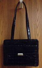 Wilson's Quality Genuine Leather Beautiful Black Handbag Excellent Condition