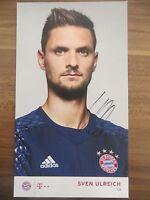 Handsignierte AK Autogrammkarte *SVEN ULREICH* FC Bayern München 16/17 2016/2017