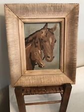 Vintage Mid-Century Paint By Numbers Western  Horse Painting