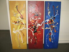 """Vencent Ko """"Triptych"""" Medium Size Oil on Canvas 100 cm X 95 cm, 3 Panels"""