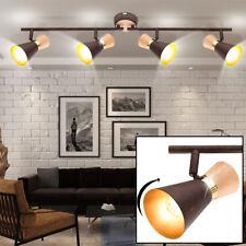 Retro Decken Strahler Leuchte Lampe Ess Zimmer Beleuchtung gold Spots beweglich