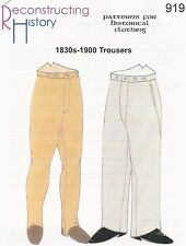 Schnittmuster RH 919 Paper Pattern 1830s-1900 Trousers