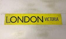 """Slough Bus Blind 258 (31"""") London Victoria"""