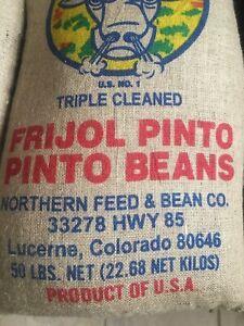 54 lbs Pinto Beans New Triple Clean U.S. No. 1 Crop total 54 pounds El Toro