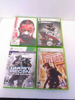 Lof of 4 Tom Clancy's XBOX 360 Games - Splinter Cell Rainbow Six & Ghost Recon