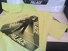 PALACE SKATEBOARDING AW15 SMALL FLURO YELLOW NEON ALIEN TRI FERG TEE T-SHIRT S
