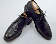 Footjoy Black Pebbled Leather Brogue Oxford WingTip 10.5 B Narrow Mens Dress