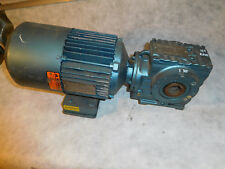 Sew Euro  SA47TDT80N4BMG05/DFT80N Gear Brake Motor 1HP 9.23:1 Ratio Thru Shaft