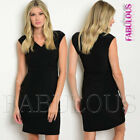 New Sleeveless Wrap Style Dress Party Formal Evening Stretchy Size 6 8 10 XS S M