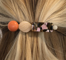 LELE SADOUGHI STACKED STONE BARRETTE HAIR TIE