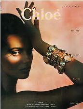▬► PUBLICITE ADVERTISING AD Chloé Bijoux jewel J. Vallhonrat 1992