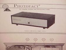 1969 Pearce-Simpson Cb Radio Home Ac Power Supply Service Shop Manual