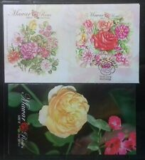 MALAYSIA 2013 ROSES 2ND SERIES FDC MS WITH BROCHURE