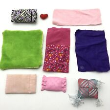 Assorted Lot of 9 Doll Blankets Pillow Barbie Towel Heart Home Decor Accessories