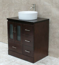 "30"" Bathroom Vanity 30-inch Cabinet Wood Top With Ceramic Sink Sink &Faucet MO"