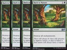 XXX 4x BACK TO NATURE englisch magic 2015 M15 (green) NM/MINT XXX XXX XXX XXX