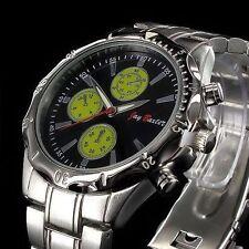 Markenlose polierte Armbanduhren aus Edelstahl mit 12-Stunden-Zifferblatt