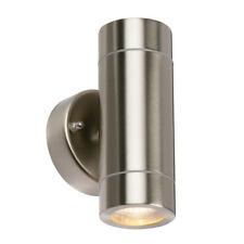 SAXBY PALIN Outdoor Garden  Stainless Steel Up/Down GU10 Wall Light IP44 13802