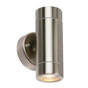 PALIN Up & Down Outdoor GU10 Wall Light - Stainless Steel - Waterproof IP44