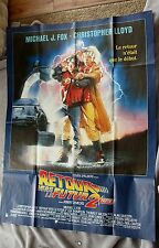Back to the Future 2 II 1989 Michael J Fox HUGE FRENCH RARE Original Poster EX