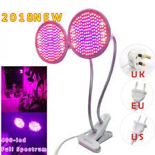 Dual Head 400 LED Grow Light E27 Lamp Bulb for Plant Hydroponic Full Spectrum UK