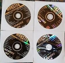 4 CDG KARAOKE DISCS R&B,URBAN,RAP,SOUL MONSTER HITS CD+G CD MUSIC