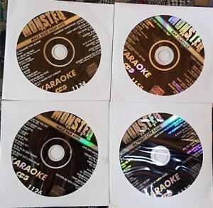 4 CDG KARAOKE DISCS R&B,URBAN,RAP,SOUL MONSTER HITS CD+G CD MUSIC