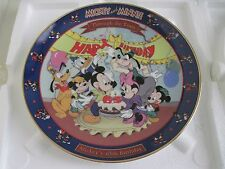 Walt Disney Mickey and Minnie Through the Years MICKEY'S 65th BIRTHDAY Plate 6th