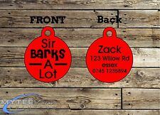 Funny Pet Tags Dog ID Sir Barks A Lot Personalised Pet Charm tag ID