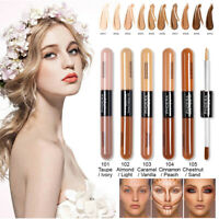Phoera Double-Head Full Coverage Foundation Shade Liquid Base Brighten Makeup UK
