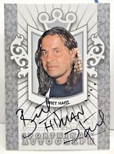 "Bret ""The Hitman"" Hart 2010 SportKings Series D Silver on-card Autograph Auto SP"